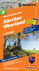 Zurcher Oberland Mountainbike Map by Hallwag