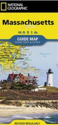 Massachusetts Guide Map by National Geographic Maps