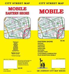 Mobile, Alabama Street Map by GM Johnson