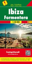 Ibiza and Formentera, Road Map by Freytag-Berndt und Artaria