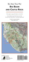 Bay Area Trail Map: Big Basin and Castle Rock by Redwood Hikes Press
