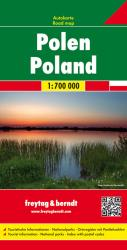 Poland, Road Map by Freytag, Berndt und Artaria