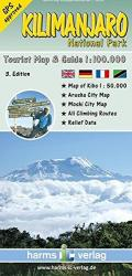 Kilimanjaro National Park, Tourist Map and Guide by Harms IC Verlag