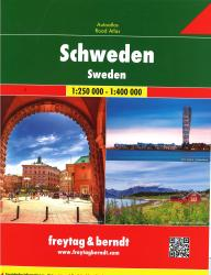 Sweden Road Atlas by Freytag, Berndt und Artaria