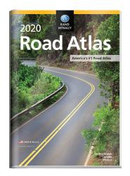 2020 Road Atlas with Protective Vinyl Cover by Rand McNally