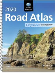 2020 Midsize  - EasyFinder Road Atlas - Spiral (Large Print) by Rand McNally