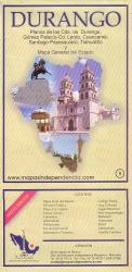 Durango State and Durango City Map by Ediciones Independencia