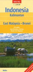 Indonesia: Kailmantan, East Malaysia, & Brunei Travel Map by Nelles Verlag GmbH