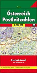 Austria Post Codes by Freytag, Berndt und Artaria