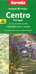 Central Portugal Travel Map by