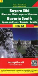 Germany, Bavaria South and Central by Freytag, Berndt und Artaria