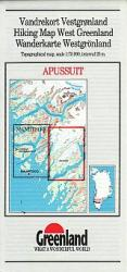 Apussuit hiking map by Greenland Tourism