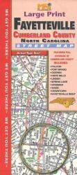 Fayetteville, Cumberland County, NC : street map (large print) by Map Supply, Inc.