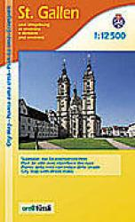 St. Gallen and environs : City Map by Edition MPA by Orell Fussli