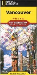 Vancouver, British Columbia Destination Map by National Geographic Maps