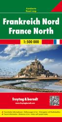 France North, Road Map by Freytag, Berndt und Artaria