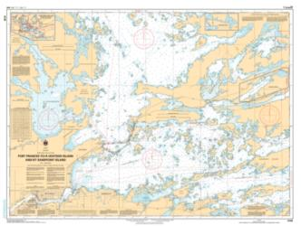 FORT FRANCES TO/A HOSTESS ISLAND AND/ET SANDPOINT ISLAND by Canadian Hydrographic Service