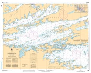 SANDPOINT ISLAND TO/AUX ANCHOR ISLANDS (6109) by Canadian Hydrographic Service