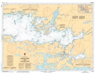 RAINY LAKE/LAC A LA PLUIE SOUTHEAST PORTION/PARTIE SUD-EST ANCHOR ISLANDS TO/A OAKPOINT ISLAND (6112) by Canadian Hydrographic Service