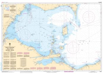 PELEE PASSAGE TO/A LA DETROIT RIVER (2123) by Canadian Hydrographic Service