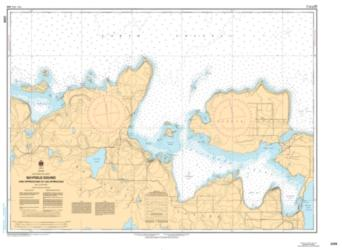 BAYFIELD SOUND AND APPROACHES/ET LES APPROCHES (2258) by Canadian Hydrographic Service