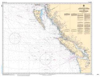 JUAN DE FUCA STRAIT TO/A DIXON ENTRANCE (3000) by Canadian Hydrographic Service