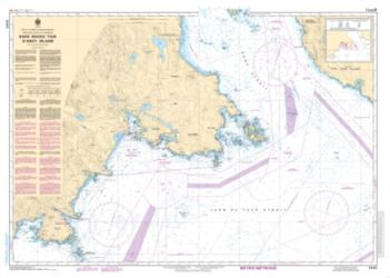 RACE ROCKS TO/A D'ARCY ISLAND (3440) by Canadian Hydrographic Service