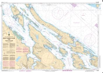 NORTH PENDER ISLAND TO/A THETIS ISLAND (3442) by Canadian Hydrographic Service