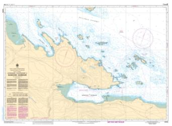 APPROACHES TO/APPROCHES A NANOOSE HARBOUR (3459) by Canadian Hydrographic Service