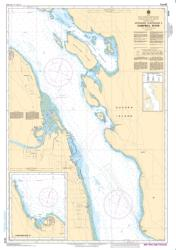 APPROACHES TO/APPROCHES A CAMPBELL RIVER (3540) by Canadian Hydrographic Service