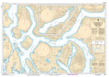 APPROACHES TO/APPROCHES A TOBA INLET (3541) by Canadian Hydrographic Service