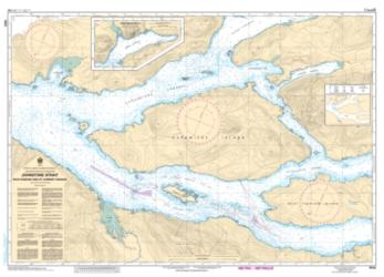 JOHNSTONE STRAIT, RACE PASSAGE AND/ET CURRENT PASSAGE (3544) by Canadian Hydrographic Service