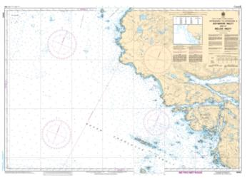 APPROACHES TO/APPROCHES A SEYMOUR INLET AND/ET BELIZE INLET (3550) by Canadian Hydrographic Service