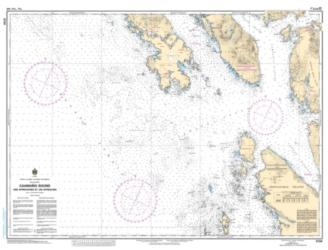 CAAMANO SOUND AND APPROACHES/ET LES APPROCHES (3724) by Canadian Hydrographic Service