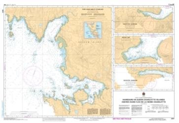 HARBOURS IN QUEEN CHARLOTTE ISLANDS (3811) by Canadian Hydrographic Service