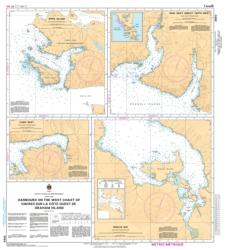 HARBOURS ON THE WEST COAST OF GRAHAM ISLAND (3860) by Canadian Hydrographic Service