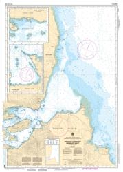 APPROACHES TO/APPROCHES A SKIDEGATE INLET (3890) by Canadian Hydrographic Service