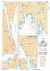 PLANS VICINITY OF/PROXIMITE DE PRINCESS ROYAL ISLAND (3911) by Canadian Hydrographic Service