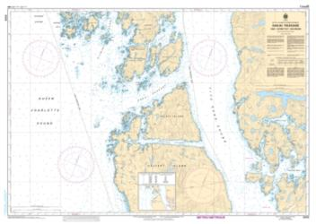 HAKAI PASSAGE AND VICINITY/ET ENVIRONS (3935) by Canadian Hydrographic Service