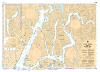 SPILLER CHANNEL AND/ET ROSCOE INLET (3940) by Canadian Hydrographic Service