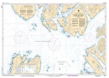 APPROACHES TO/APPROCHES A PORTLAND INLET (3960) by Canadian Hydrographic Service