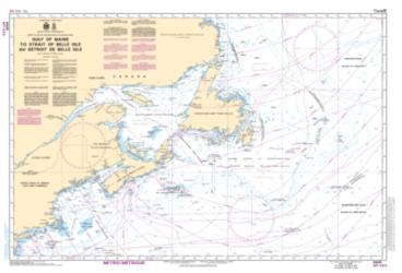 GULF OF MAINE TO STRAIT OF BELLE ISLE /AU DETROIT DE BELLE ISLE (4001) by Canadian Hydrographic Service