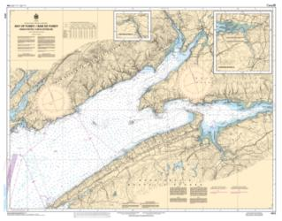 BAY OF FUNDY INNER PORTION; BAY OF FUNDY / BAIE DE FUNDY (4010) by Canadian Hydrographic Service