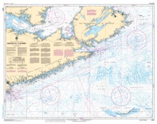 HALIFAX TO/A SYDNEY (4013) by Canadian Hydrographic Service