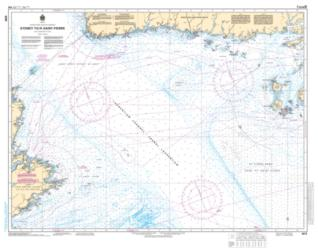 SYDNEY TO/A SAINT-PIERRE (4015) by Canadian Hydrographic Service