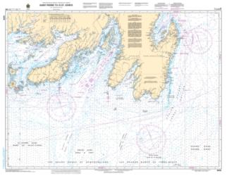 SAINT-PIERRE TO/A ST. JOHN'S (4016) by Canadian Hydrographic Service