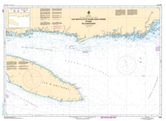 CAP WHITTLE A/TO HAVRE-SAINT-PIERRE ET/AND ILE D'ANTICOSTI (4025) by Canadian Hydrographic Service