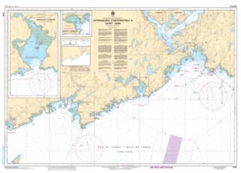 APPROACHES TO/APPROCHES A SAINT JOHN (4116) by Canadian Hydrographic Service