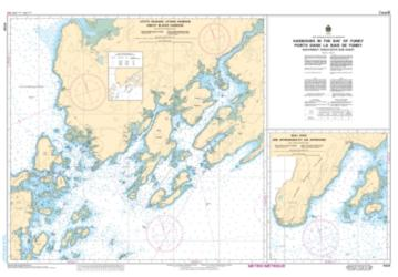HARBOURS IN THE BAY OF FUNDY SOUTHWEST COAST/COTE SUD-OUEST (4124) by Canadian Hydrographic Service