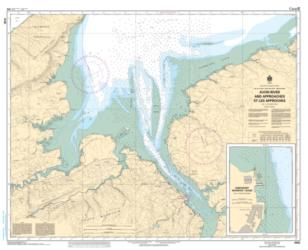 AVON RIVER AND APPROACHES/ET LES APPROCHES (4140) by Canadian Hydrographic Service